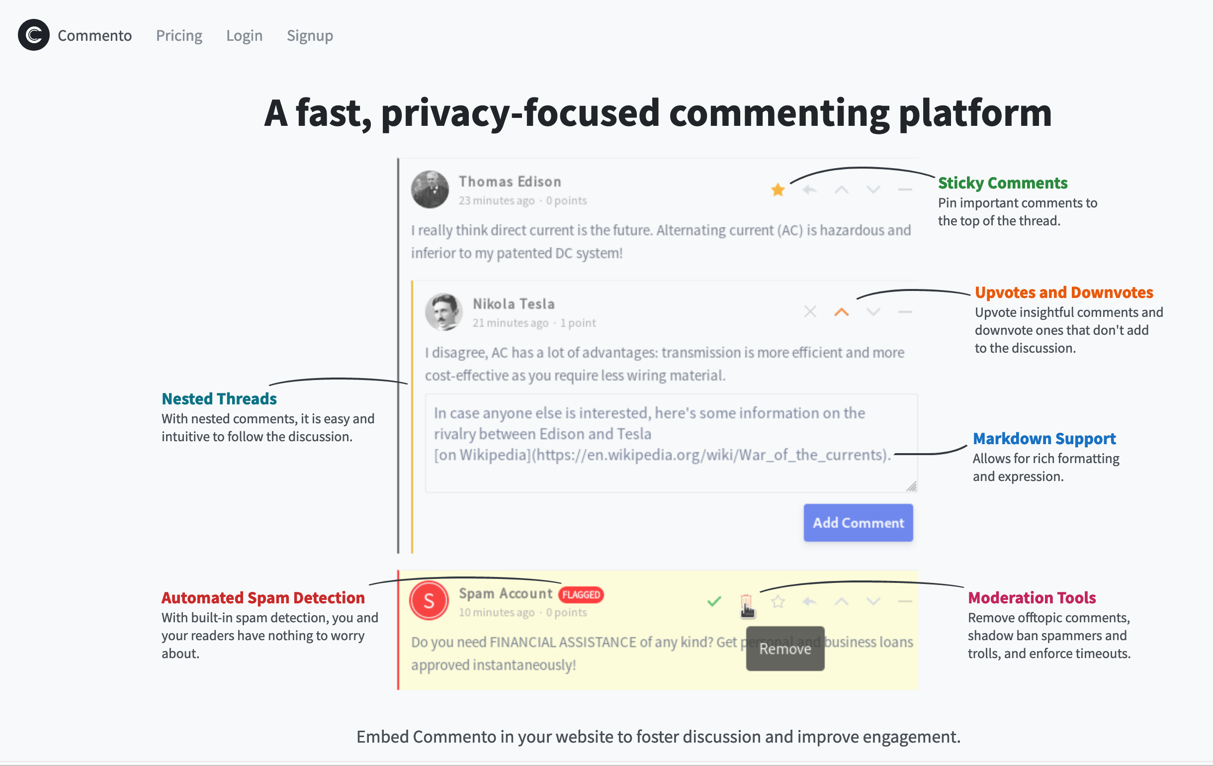 "Commento: ""A fast, privacy-focused commenting platform"""